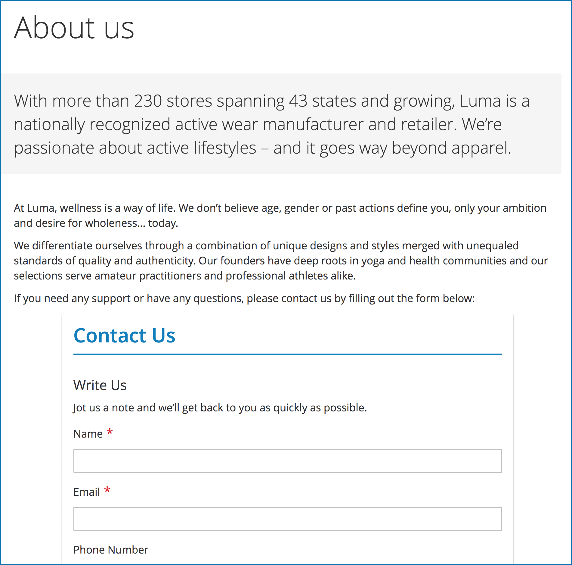 Embedded forms using embed code