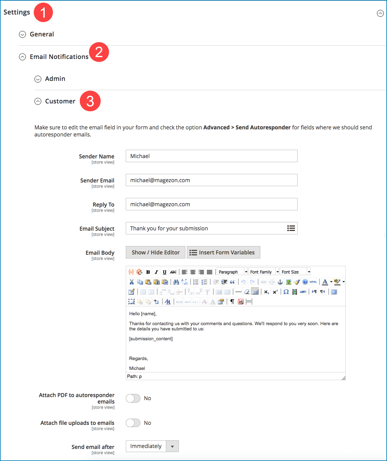 Email notifications to customers _ Customize emails