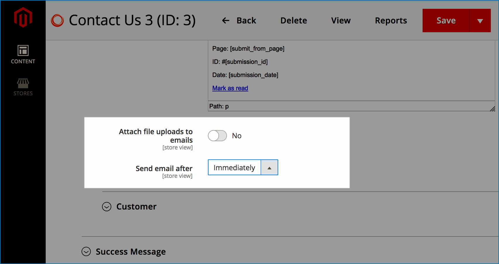 Get email notifications for forms_ Add file upload & set time sending email