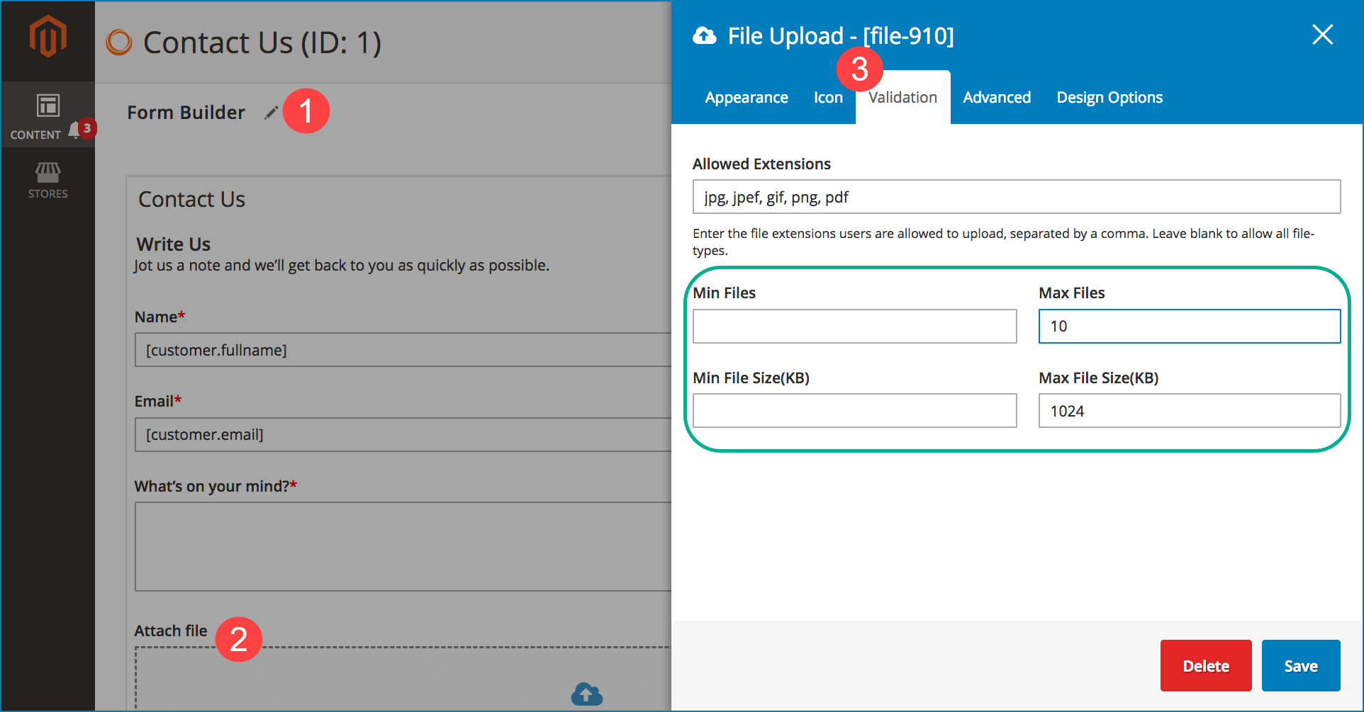 Speed up form submission _ Limit file upload