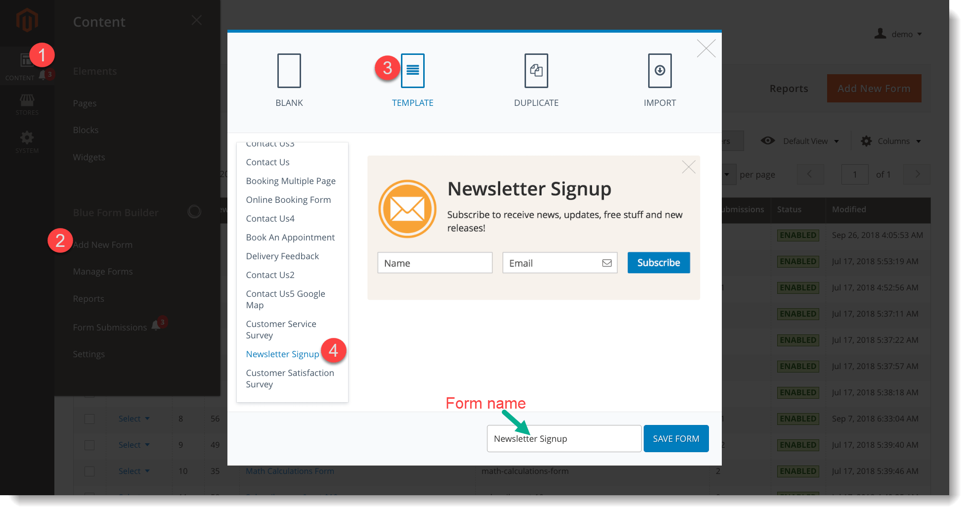 Newsletter signup form _ Use form template