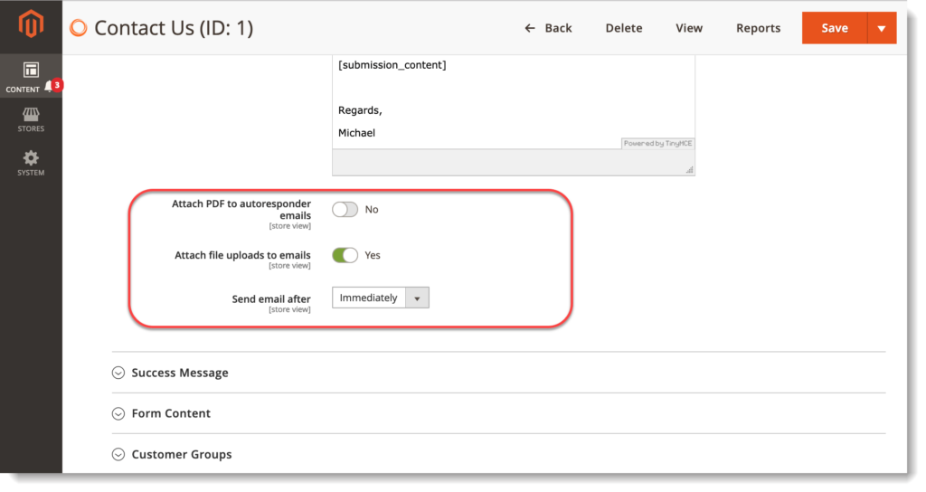 Magento 2 Form Builder _ Customer email notification attachments