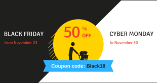 50%-off Black Friday and Cyber Monday