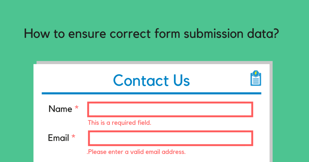 Ensure correct form submission data