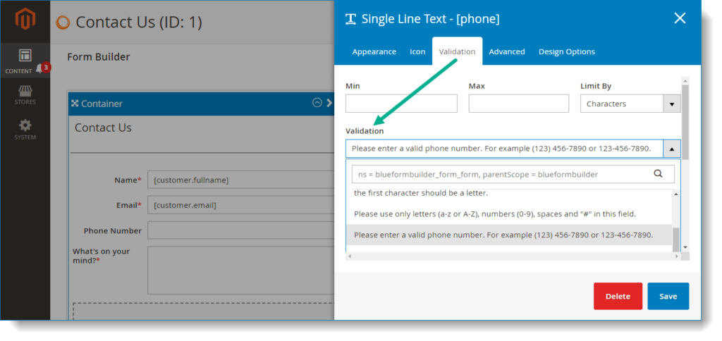 Ensure correct form submission data _ Validation