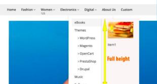Magento 2 mega menu - Sub menu