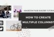 Create multi column layouts