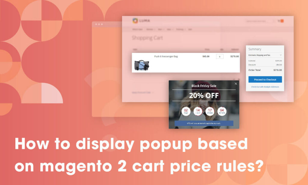 how to display popup based on magento 2 cart price rules