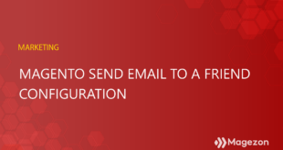 Magento Send Email To A Friend Configuration